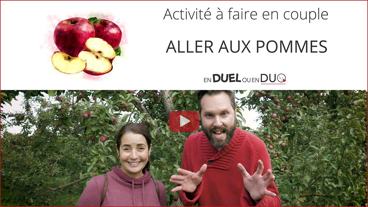 Aller aux pommes - activité de couple blogue